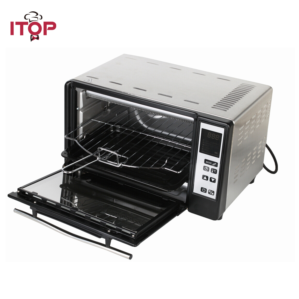 ITOP Electric Household Oven Pizza Bread Kebab Multifunctional Cooker EU Plug 5 Cooking Mode can be choosed 1pc hot sale 100%quality guaranteed doner kebab slicer two blades electrical kebab knife kebab shawarma gyros cutter
