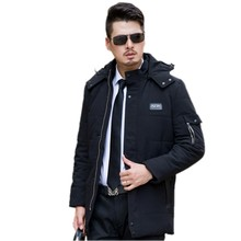 The new winter 2016 men feather cotton-padded jacket The fashion leisure eiderdown cotton collars cotton-padded clothes