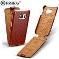 Flip case para samsung galaxy s7 g9300 teléfono cubierta de cuero para samsung galaxy s7 edge tomkas coque marca de lujo retro