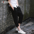 Viishow Summer Mens Ankle-Length Pants New Zipper Casual Pants Comfortable Suits Sweatpants for Men Trousers