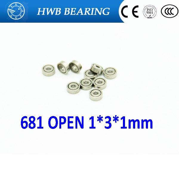 50pcs 681 1x3x1mm Miniature ball Bearings mini open bearing  1*3*1 mm 681open  ABEC-1 Free shipping купить в москве самовар электрический