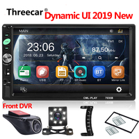 2019 NEW Car Audio Video Player 7inch 2DIN Car Stereo MP5 Player Dynamic UI Bluetooth Radio Mirror link Android Phone Camera