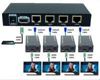 60m 3D 1080P 1x4 HDMI Extender/Amplificatore HDMI/HDMI Splitter Over Ethernet RJ45 Cat5e cat6 Cavo (Extender 1 TX & Extender 4 RX)