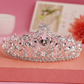 2016 новое в стиле барокко серебряный кристалл свадьбы тиару большой люкс для волос театрализованное принцессы королева корону модель 9