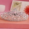 2016 Brand New estilo barroco de prata Tiara do casamento de cristal Big acessórios para cabelo nupcial Pageant princesa da coroa da rainha modelo 9