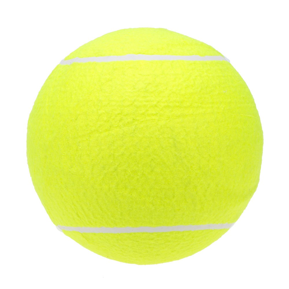 9.5in Big Tennis Ball For Pet Chew Toy Big Inflatable Tennis Ball Jumbo Ball Supplies Outdoor Cricket