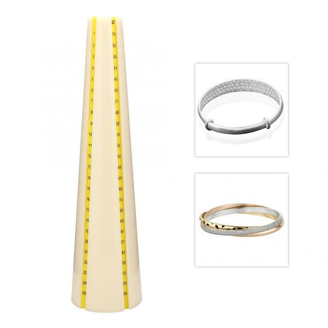 Professionele Plastic Armband Meten Doorn Sizer Sieraden Hamer Meten Maken Repareren Tool voor Juwelier
