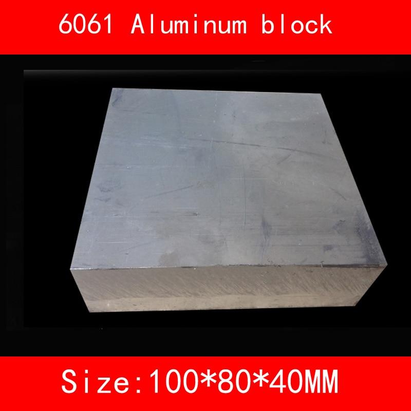 6061 blocco di alluminio formato 100*80*40mm AL Metallo argento colore uso lavorazione dei metalli 1 pz6061 blocco di alluminio formato 100*80*40mm AL Metallo argento colore uso lavorazione dei metalli 1 pz