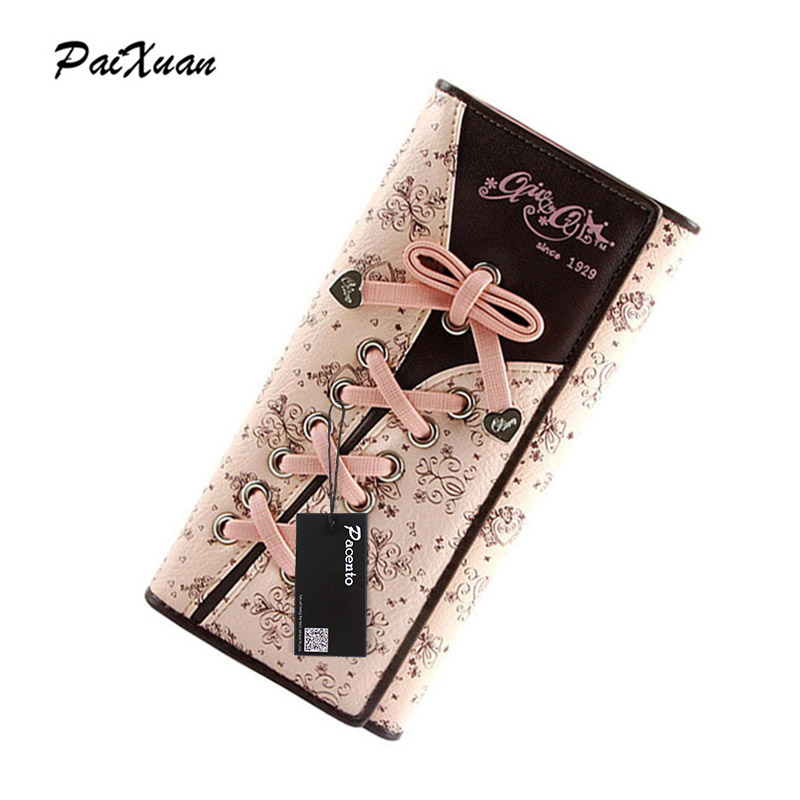 designer wallets famous brand women wallet 2017 women's long leather wallet Pink lady purses cuzdan portfolio Carteira Feminina стоимость