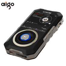 Original Aigo MP3 Player H09 Metal Case Wooden Back Android System HiFi Enthusiast Lossless Music Wheel Controlled Turntable