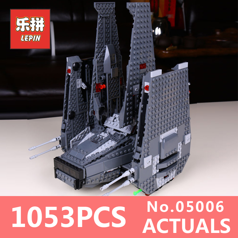 Star 1053Pcs Lepin 05006 Hot Sale Kylo Ren Command Shuttle Wars LegoINGlys 75104 Blocks Kid's Toys compatible Toys for Holiday hot wheels звездный корабль command shuttle star wars hot wheels