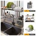 Estante de cocina de acero inoxidable 304, estante de secado, drenaje, soporte de almacenamiento, plato, plato, taza, cocina, jabón, organizador de almacenamiento para Baño