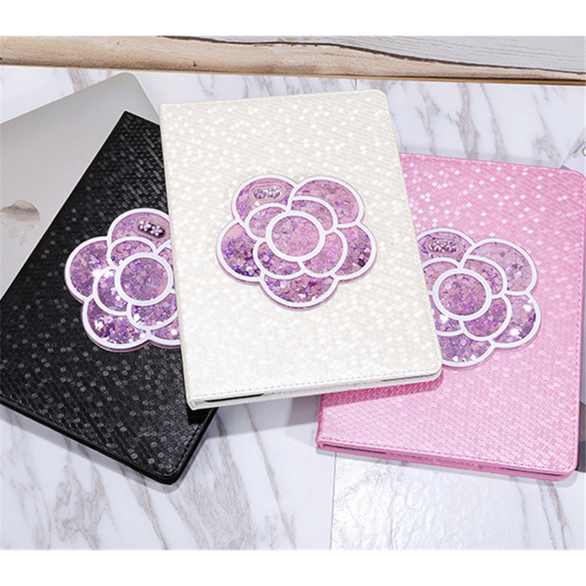 Quicksand Flower Cases For Ipad Pro 9.7 Air 1 2 MIni 1 2 3 Business Mart Stand Cover Wit ...