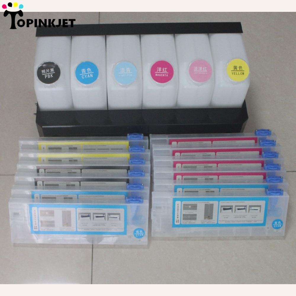 A granel, sistema de tinta Roland a granel, sistema de tinta para Roland VS540 VS640 VS420 VS300 para Mutoh RA640 impresora (6 tanques + 12 cartuchos)