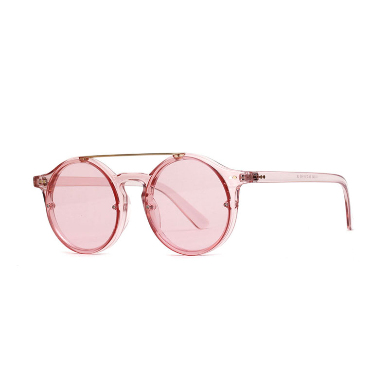 e7eb8cab2f5 OFIR Vintage Style Sunglasses Woman Double Bridge Fashion Round Frame Vivid  Colors Lens Sun Glasses Transparent Eyewear UV400-in Sunglasses from Women s  ...