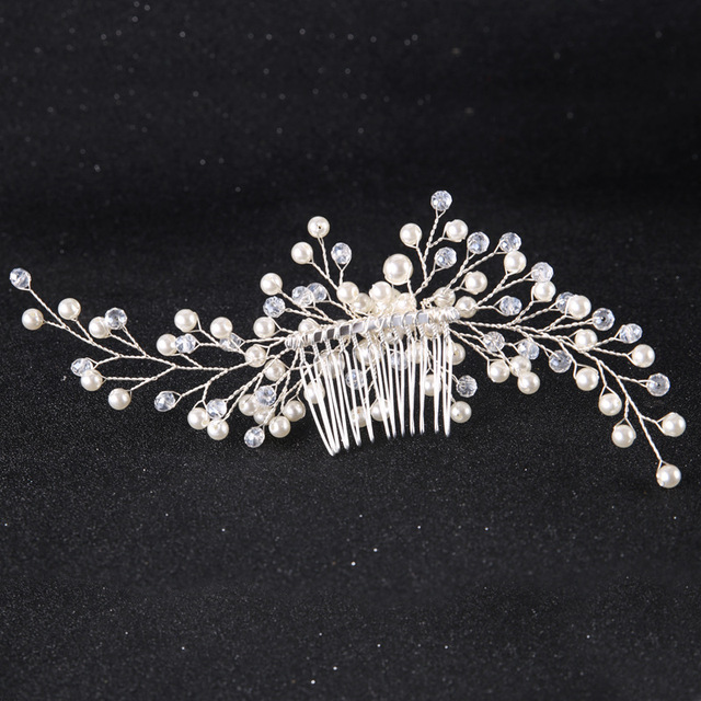 Floral Crystal Hair comb Wedding Hair jewelry Bridal Headpiece Bridesmaid Hair accessories women Handmade bride head piece