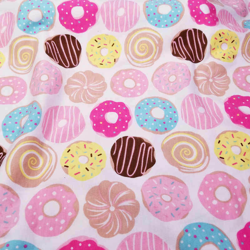 Hot sale Half Meter Donut Baby Cotton Knitted Jersey Fabric for DIY clothes, bibs, coated, bed sheets Cotton Cloth