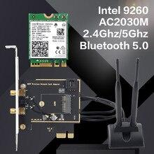デュアルバンドデスクトップワイヤレスインテル 9260AC 9260NGW MU MIMO 802.11ac 1730 150mbps の無線 Lan Bluetooth 5.0 Pci E の Pcie X1 Wlan カード + アンテナ