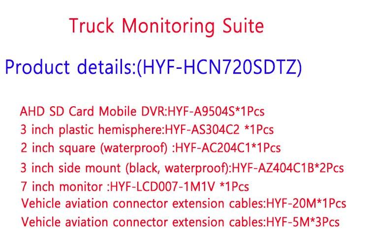 Kit de monitoramento de carro, hd, 720p,