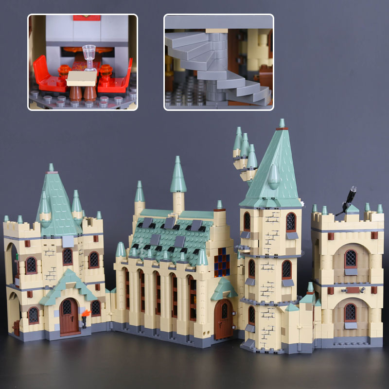 Bei Fen IN STOCK 16030 the Hogwarts Castle Set 4842 Compatible Legoinglys Creative Movie Building Blocks Children Toy lepin the women in the castle