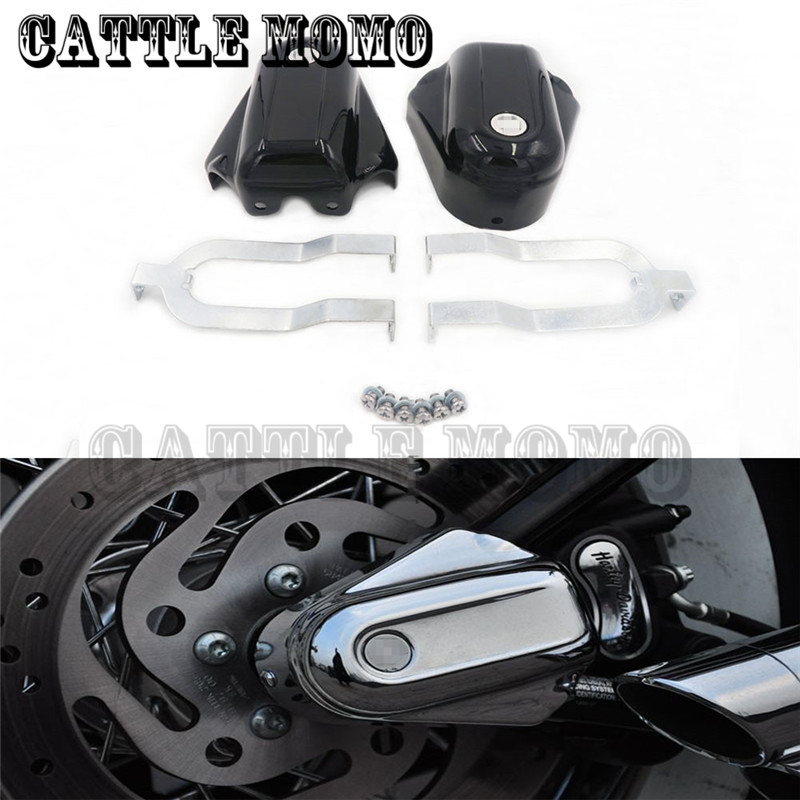 Motor Shield Rear Axle Covers For Softail Deluxe FLSTN 2008 2009 2010 2011 2012 13 14 2015 2016 Rear Axle Covers Kit car rear trunk security shield cargo cover for mazda 5 m5 2007 08 2009 2010 2011 2012 13 14 15 2016 high qualit auto accessories