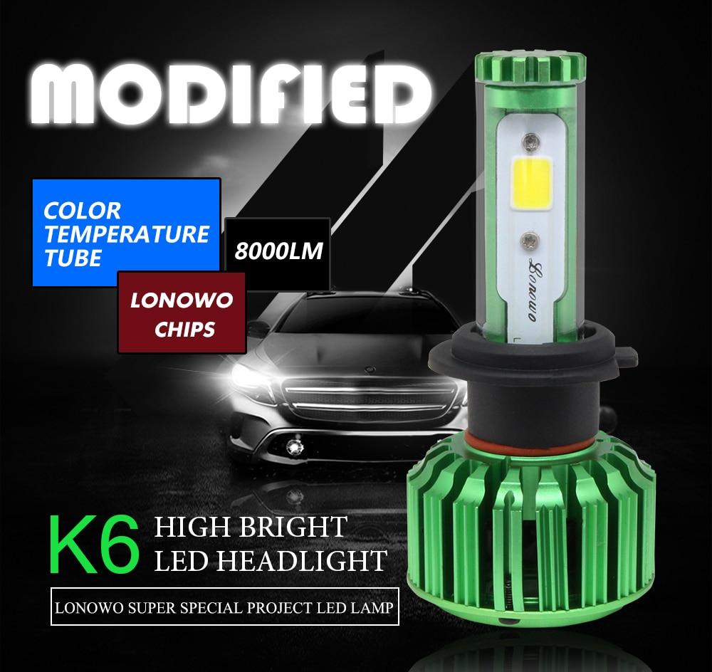 LED Côté Ampoules Phare Set basse CHEVROLET Spark 100W Super Blanc XENON HID haute
