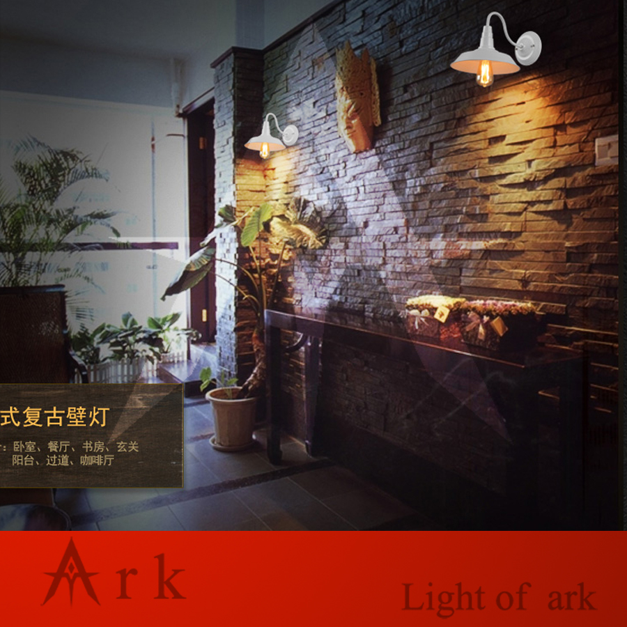 ARK LIGHT American vintage nostalgic DIA 36CM IRON  sconce light classical wall LAMP COFFEE HOUSE  DINING ROOM
