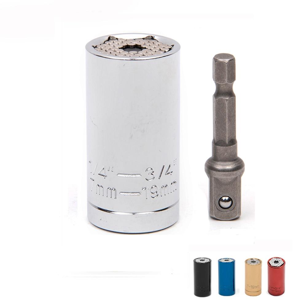 Juego de herramientas de llave universal Adaptador de enchufe con adaptador de taladro eléctrico Juego de adaptador de taladro eléctrico Adaptador de herramienta de reflejos Llave de trinquete