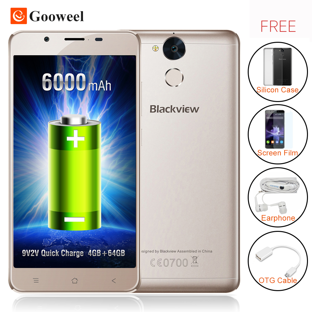 Newest Blackview P2 smartphone 4GB RAM 64GB ROM Android 6 0 Cell Phone MT6750T Octa Core