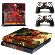 DEADPOOL MERC WITH MOUTH PS4 sticker skin for Sony PlayStation 4 Console and 2 controller skins