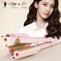 High Quality Professional Hair Curling Iron Ceramic Triple Barrel Hair Curler Hair Waver Styling Tools Hair Styler Freeshipping