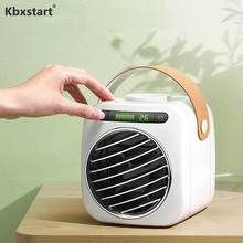 Kbxstart USB Mini Portable Air Conditioner Fan Desktop Humidification Low Noise Cooler 350ml Water Tank