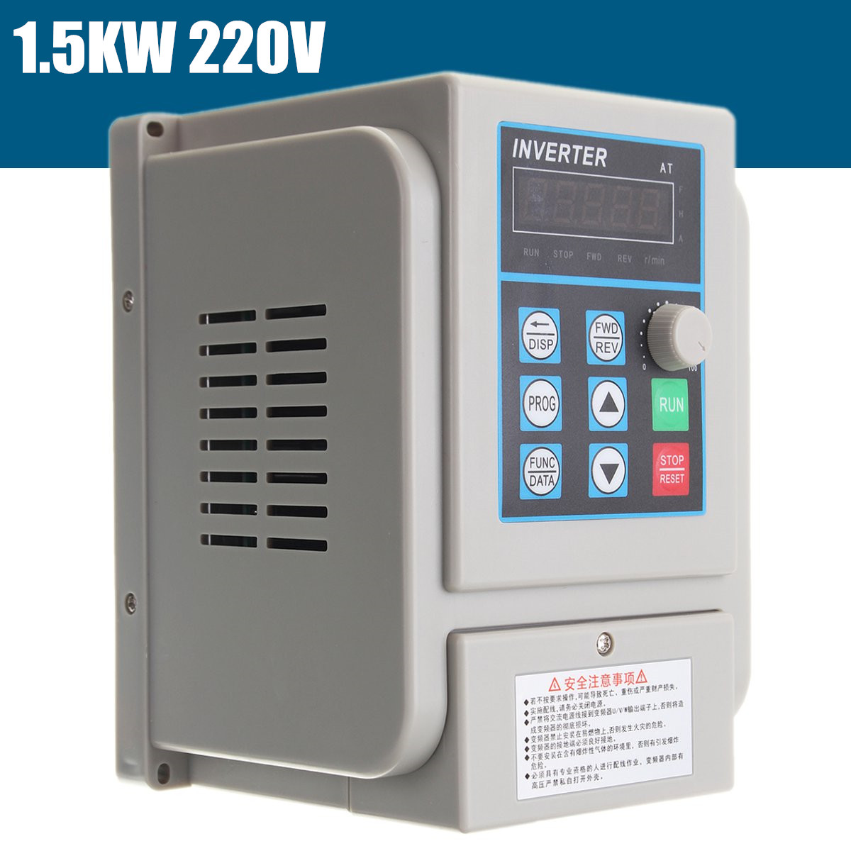 CNC Spindle motor speed control 1.5kw 220V VFD Variable Frequency Drive VFD 2HP frequency inverter for motor New Arrival new variable frequency drive vfd inverter 1 5kw 2hp 220v 7a 1 5kw inverter with potentiometer knob 220v ac