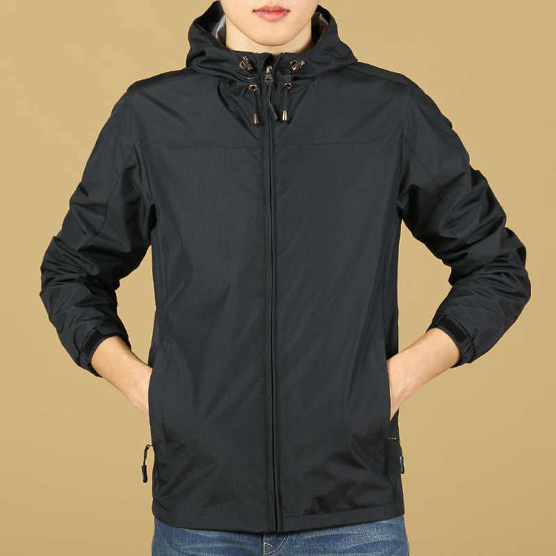 Własne logo Design drukowane męskie bluzy wodoodporne Slim Fit z kapturem na jesień bluza kurtka z długim rękawem niestandardowy płaszcz S-3XL