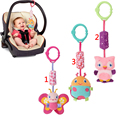 New Baby Animal Handbells Toy Rattles Developmental Toy Car Bed Stroller Bells