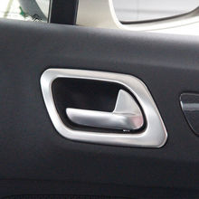 цена на High quality For Citroen C4 2016 ABS Matte Inner Door Handle Frame Bowl Decoration Cover Trim car styling accessories 4Pcs