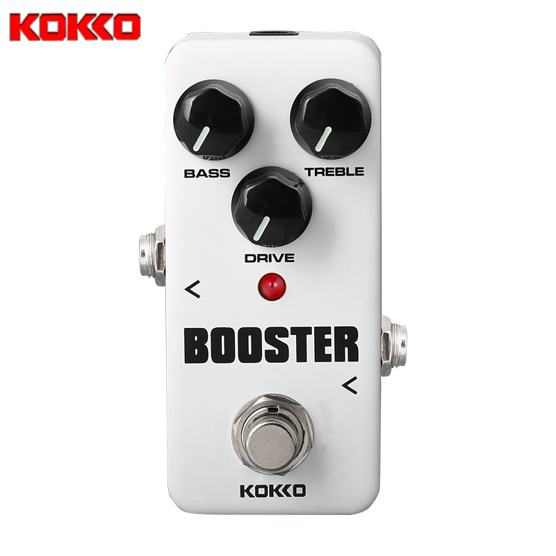 KOKKO FBS2 Mini Pedal Booster 2-Band EQ Guitarra Pedal de Efectos de Alta Calidad Guitar Parts & Accessories kokko fbs2 mini guitar effect pedal guitarra booster high power tube electric guitar two segment eq effect device parts