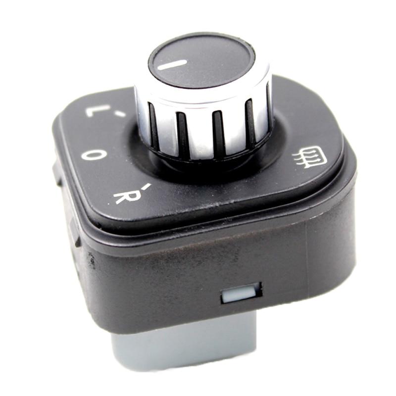 YAOPEI New 5ND959565B Chrome Mirror Switch Knob Fit For Volkswagen GOLF MK6 J*ETTA IV MK5 Passat|Switch Control Signal Sensor| |  - title=