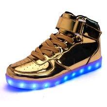 Унисекс светодиодная обувь разносветильник для пар повседневная