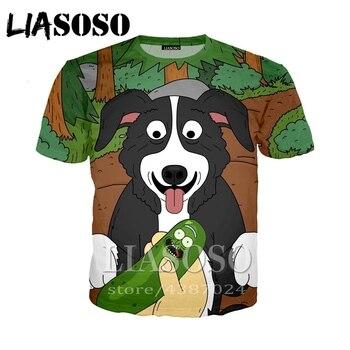 7832de671 LIASOSO DJ camiseta 3D los hombres mujeres streetwear rock perro t camisa  Harajuku ropa punk juego Sr. Pickles corto manga E379