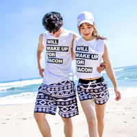 Summer Couple Swimwear Board Shorts Women Mens Surf Swimming Shorts Swim Trunks Beach Sports Suit Quick