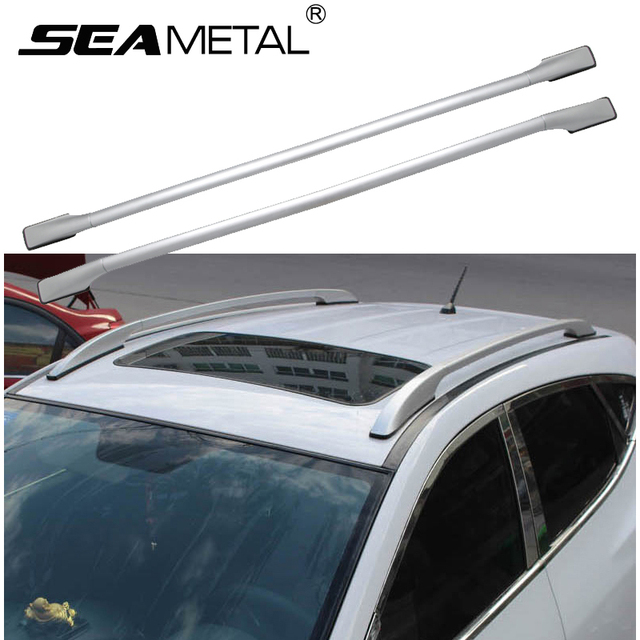 Universal Aluminum Alloy Car Roof Racks Bars Side Rail Luggage Bar Travel  Storage Luggage Roof Rail