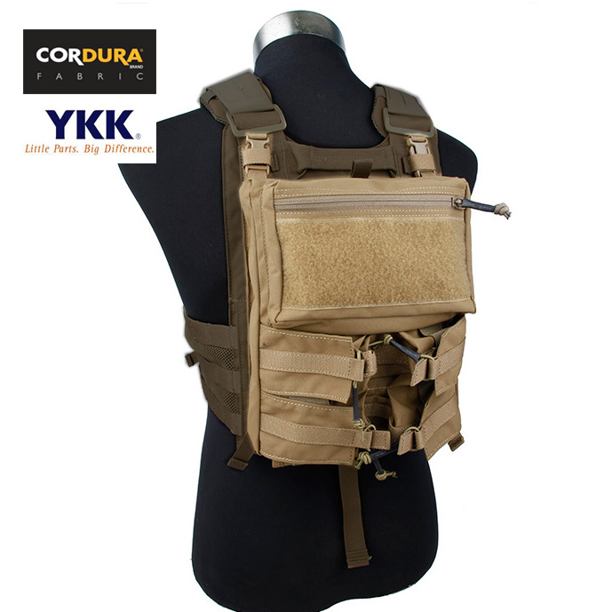 Assault Back Panel Pouch For 4020 Plate Carrier Coyote Brown Vest Tactical Combat Gear+Free Shipping(XTC050958)