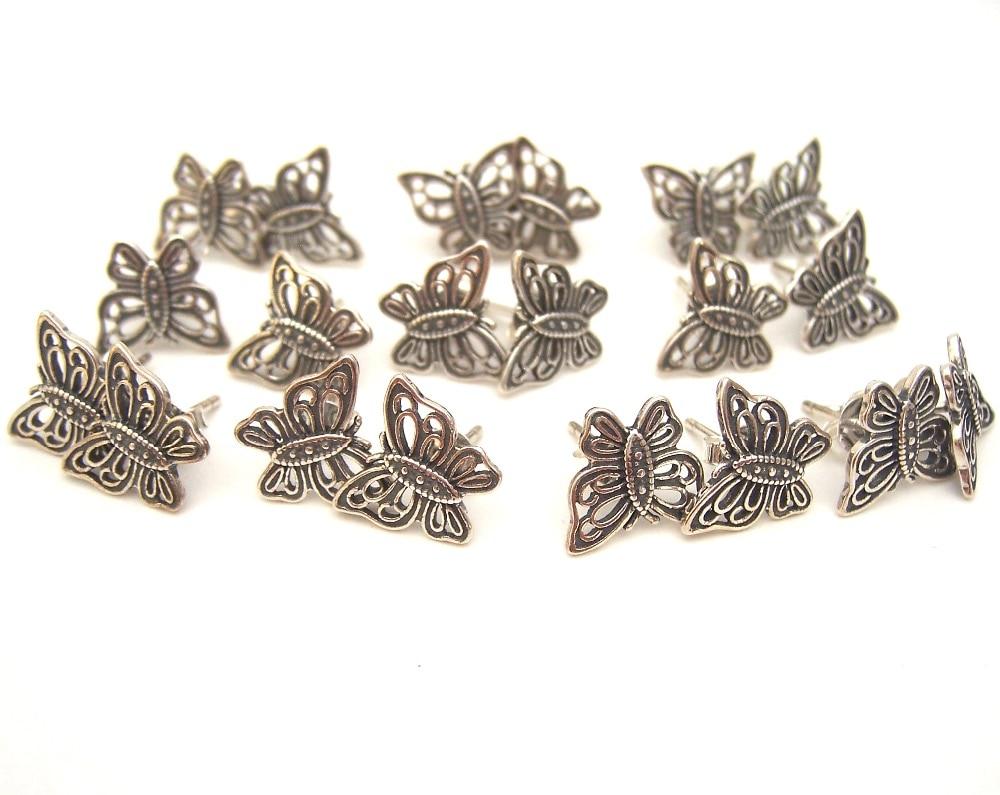 SSVWGEH19 10X100% authenticité S925 boucles d'oreilles en argent Sterling silverpearl Fit bracelet à breloques européen bijoux à bricoler soi-même au chalumeau