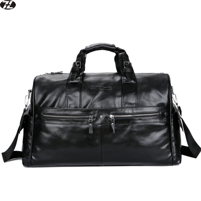 96f2a642d3bd leather men travel bags large capacity handbags vintage black men messenger  duffel bag casual men shoulder