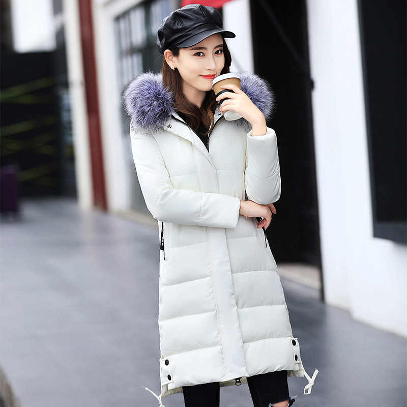 New Hooded Jacket Coat Warm With Faux Fur Women 2017 Winter Fashion Long Sleeve Zipper Coat Vintage Coats Female Ladies winter fur coat 2015 new women imitation mink elegance long sleeve faux fur coats long jacket warm outwear with belt qy241