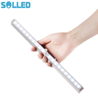 SOLLED 20 LED Portable Wireless Sensor Closet Under Cabinet Night Light Battery Powered Stair Aisle Porch Bedroom Walkway TH