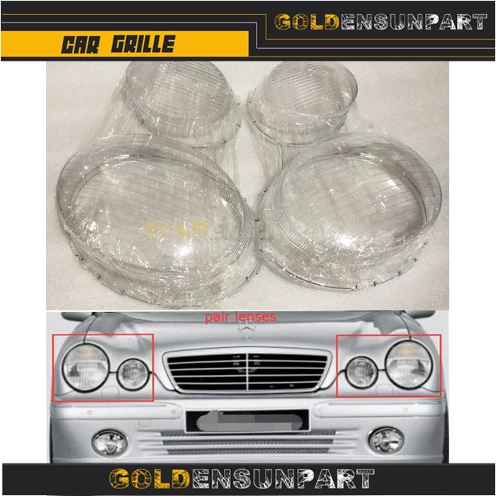 Paire lentilles phares couvercle de phare pour MERCEDES classe E W210 E320 E350 1996-03