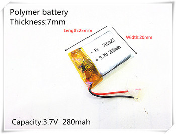 New 2019 production. 3.7V polymer lithium battery 702025 MP3 Bluetooth headset wireless headset wireless mouse 280mAH image