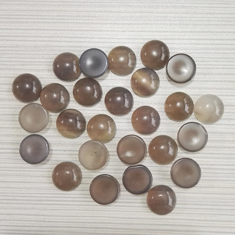 2015 fashion 12x12mm natural stone round beads charm Gray onyx CAB CABOCHON beads for jewelry wholesale 50pcs/lot free
